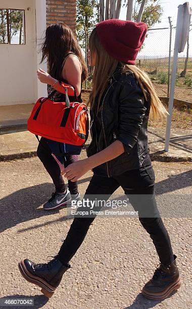 Chabelita Pantoja and Anabel Pantoja visit Isabel Pantoja at Acala de Guadaira prison on March 12 2015 in Sevilla Spain