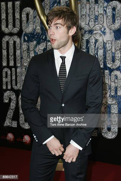 Chace Crawford arrives for the World Music Awards 2008 at the Monte Carlo Sporting Club on November 9 2008 in Monte Carlo Monaco