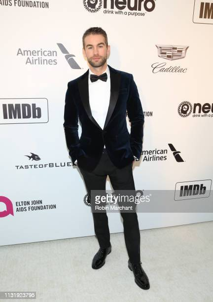 Chace Crawford attends 27th Annual Elton John AIDS Foundation Academy Awards Viewing Party Celebrating EJAF And The 91st Academy Awards on February...
