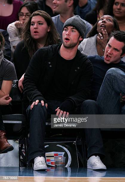 Chace Crawford attends Dallas Mavericks vs New York Knicks game at Madison Square Garden on December 10 2007 in New York City New York
