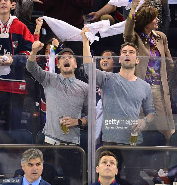1bdb1eab608 Chace Crawford attends Montreal Canadiens vs New York Rangers playoff game  at Madison Square Garden on