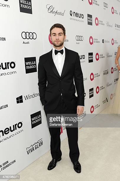 Chace Crawford attends the 22nd Annual Elton John AIDS Foundation Academy Awards viewing party with Chopard at the City of West Hollywood Park on...