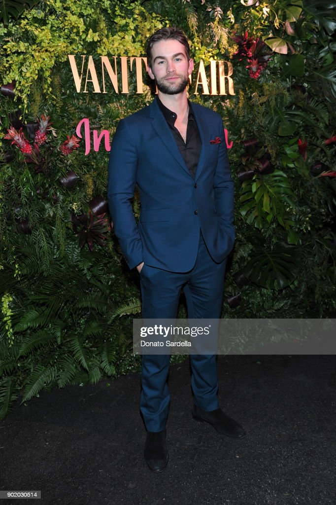 Chace Crawford attends Vanity Fair x Instagram Celebrate the New Class of Entertainers at Mel's Diner on Golden Globes Weekend at Mel's Diner on January 6, 2018 in West Hollywood, California.