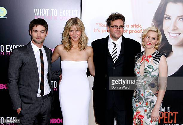 Chace Crawford Brooklyn Decker Kirk Jones and Elizabeth Banks attend the What To Expect When You're Expecting New York Screening at AMC Lincoln...