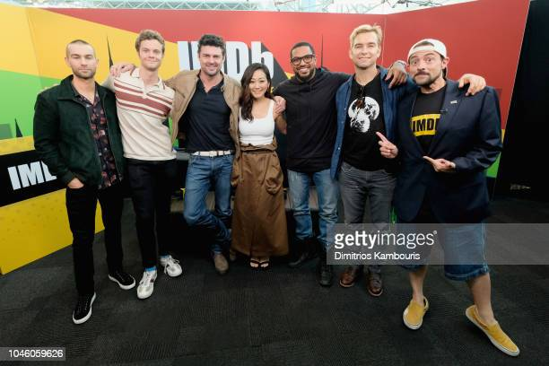 Chace Crawford Jack Quaid Karl Urban Karen Fukuhara Laz Alonso Anothony Starr of 'The Boys' and Kevin Smith attend IMDb at New York Comic Con Day 1...
