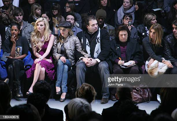 MIA Chace Crawford Lydia Hearst Brittany Murphy and Simon Monjack attend Diesel Fall 2008 during MercedesBenz Fashion Week at theTent at Bryant Park...