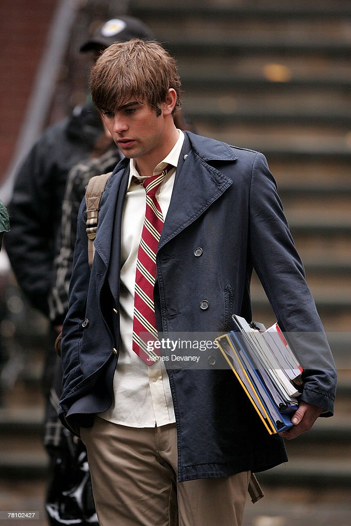 Chace Crawford on location for 'Gossip Girl' on November 26, 2007 in New York City, New York.
