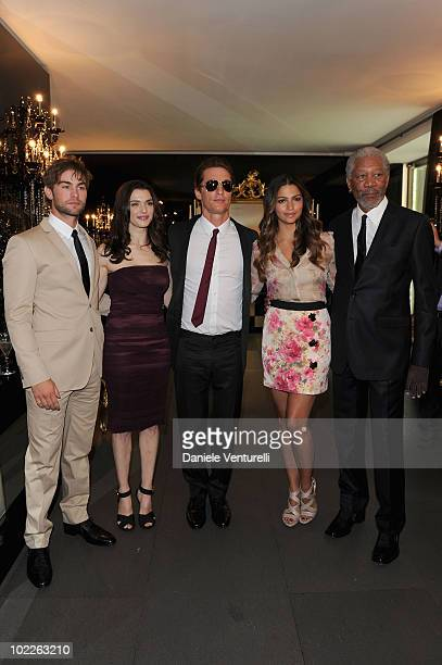Chace Crawford, Rachel Weisz, Matthew McConaughey, Camila Alves and Morgan Freeman attend the Dolce & Gabbana VIP Room prior to the Dolce & Gabbana...