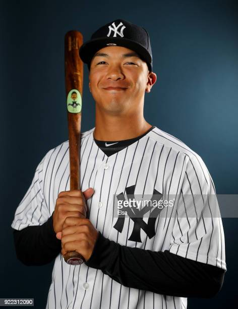 Chace Numata of the New York Yankees poses for a portrait during the New York Yankees photo day on February 21 2018 at George M Steinbrenner Field in...