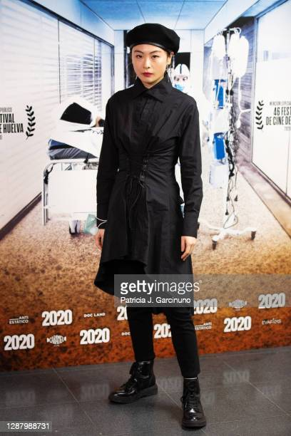 "Chacha Huang attends the premiere of the documentary film ""2020"" at WiZink Center on November 26, 2020 in Madrid, Spain."