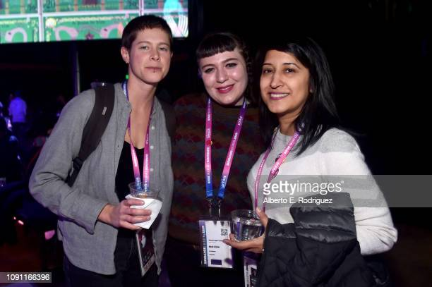 Chachi Hauser Beck Kitsis and Mridu Chandra attend the Shorts Program Awards And Party during the 2019 Sundance Film Festival at Utah Film Studios on...