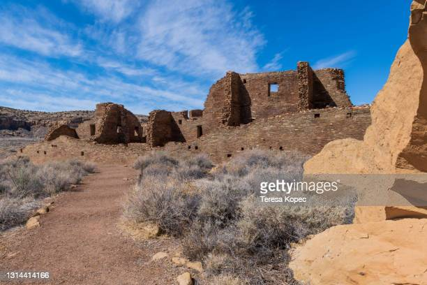 chaco cultural historical park - anasazi ruins stock pictures, royalty-free photos & images