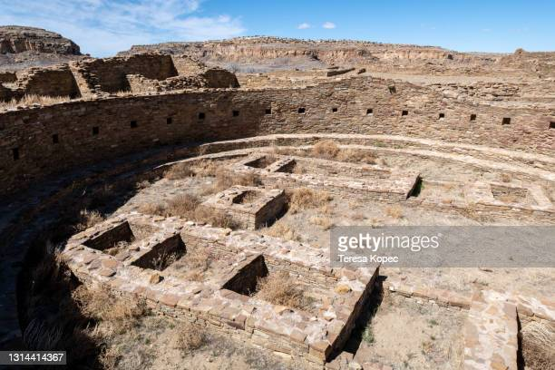 chaco culture historical park - anasazi ruins stock pictures, royalty-free photos & images