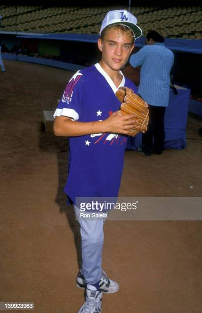 Chad Allen at the 1988 'Hollywood Stars Night' Celebrity Baseball Game Dodger Stadium Los Angeles