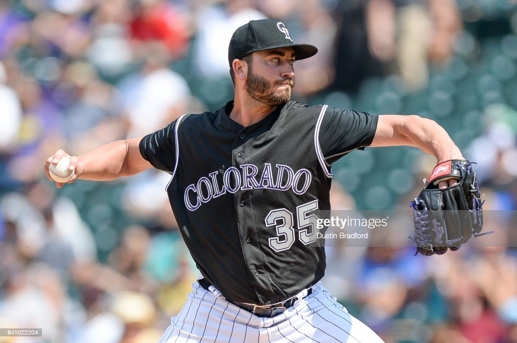 Chad Bettis #35 of the Colorado Rockies pitches against the Detroit Tigers in the third inning of a game at Coors Field on August 30, 2017 in Denver, Colorado.