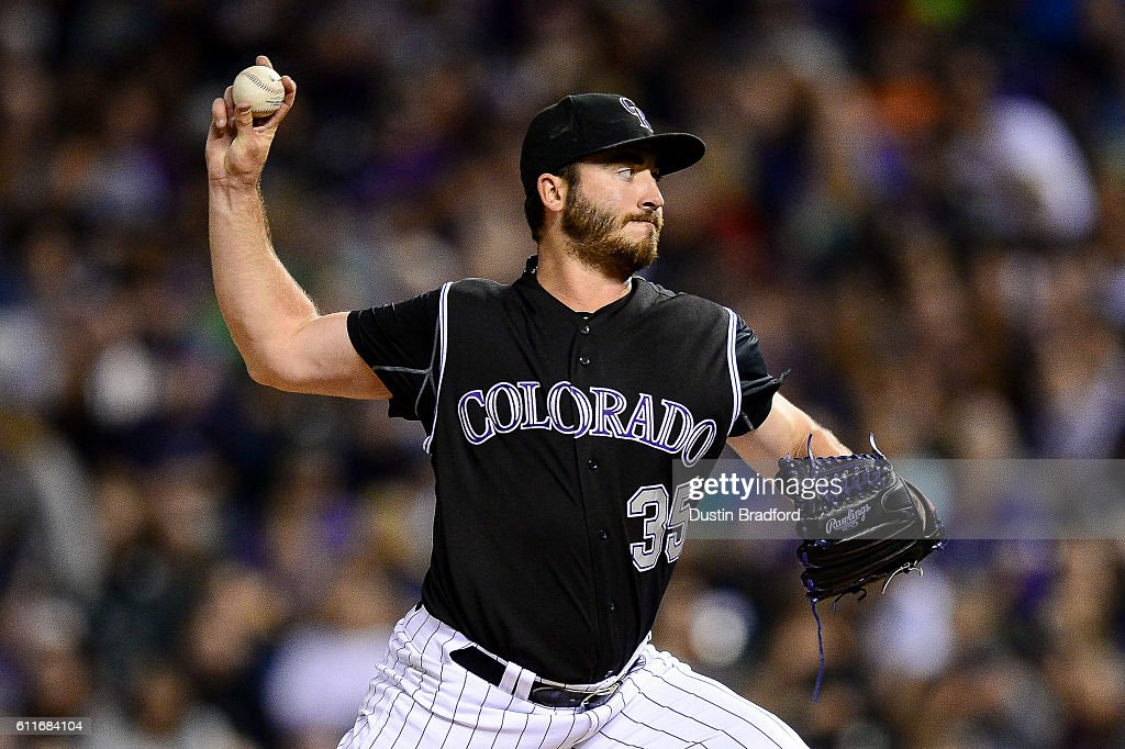 Chad Bettis #35 of the Colorado Rockies pitches against the Milwaukee Brewers in the fourth inning of a game at Coors Field on September 30, 2016 in Denver, Colorado.