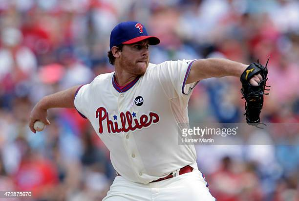 Chad Billingsley of the Philadelphia Phillies throws a pitch in the first inning during a game against the New York Mets at Citizens Bank Park on May...