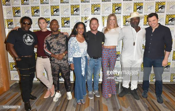 Chad Coleman Mark Jackson J Lee Penny Johnson Scott Grimes Adrianne Palicki Peter Macon and Seth MacFarlane attend the 'The Orville' Press Line...