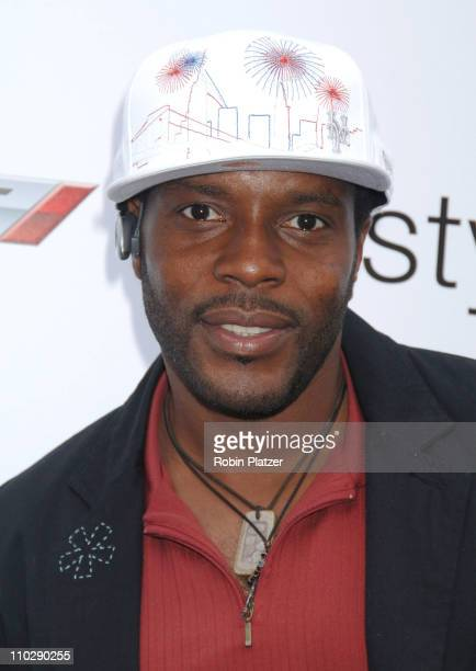 Chad Coleman of The Wire during 2006 MTV Video Music Awards Style Villa at Bryant Park Hotel in New York City New York United States