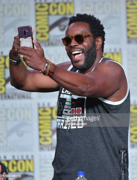 Chad Coleman speaks at The Orville Panel during 2019 ComicCon International at San Diego Convention Center on July 20 2019 in San Diego California