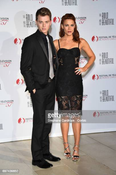 Chad Duell and Courtney Hope attend the 'The Bold and The Beautiful' 30th Anniversary during the 57th Monte Carlo TV Festival Day 3 on June 18 2017...