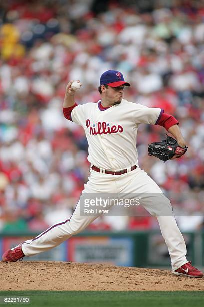 July 26: Chad Durbin of the Philadelphia Phillies pitches during the game against the Atlanta Braves at Citizens Bank Park in Philadelphia,...