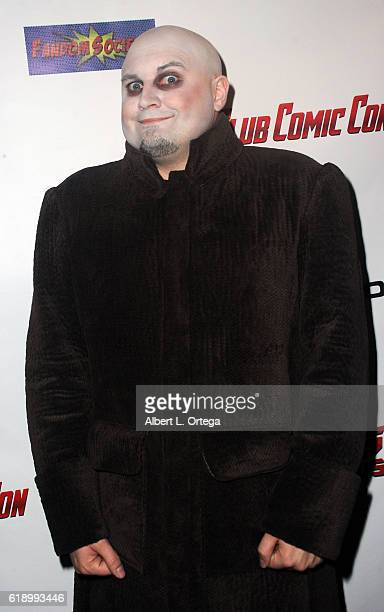 Chad Edward Lee Evett as Uncle Fester attends Club Comic Con Launch Party held at Globe Theatre on October 28 2016 in Los Angeles California