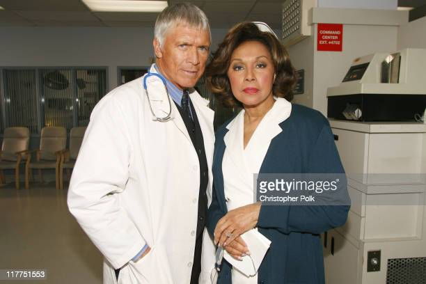 Chad Everett and Diahann Carroll during 2006 TV Land Awards Spoof of 'Grey's Anatomy' at Robert Kennedy Medical Center in Los Angeles California...