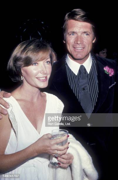 Chad Everett and wife Shelby Grant attend 28th Annual Thalians Ball on October 22 1983 at the Century Plaza Hotel in Century City California