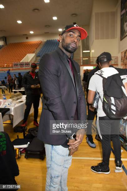 Chad 'Focus' Arrington coaches team FOCUS in 'Flow Weekend' Celebrity Basketball Bash game at Talmadge L Hill Field House at Morgan State University...