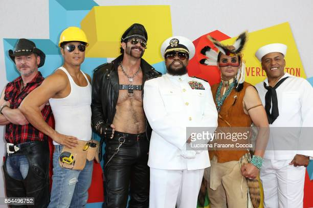 Chad Freeman James Kwong JJ Lippold Angel Morales Victor Willis and Sonny Earl of 'Village People' attend the 7th Annual Streamy Awards at The...