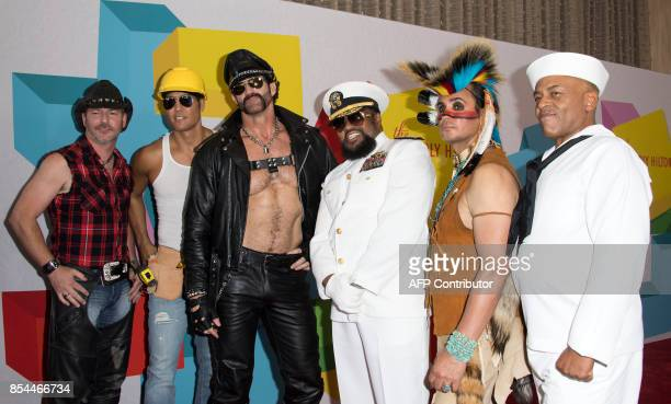 Chad Freeman James Kwong JJ Lippold Angel Morales Victor Willis Sonny Earl of Village People attend the 7th Annual Streamy Awards on September 26 in...