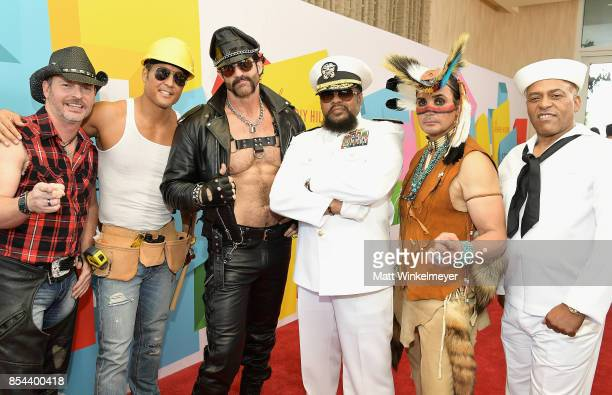 Chad Freeman James Kwong JJ Lippold Victor Willis Angel Morales and Sonny Earl of Village People at the 2017 Streamy Awards at The Beverly Hilton...