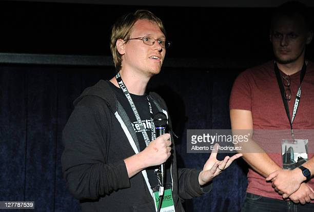 Chad Freidrichs speaks at the 'The PruittIgoe Myth' Q A during the 2011 Los Angeles Film Festival at Regal Cinemas LA Live on June 17 2011 in Los...