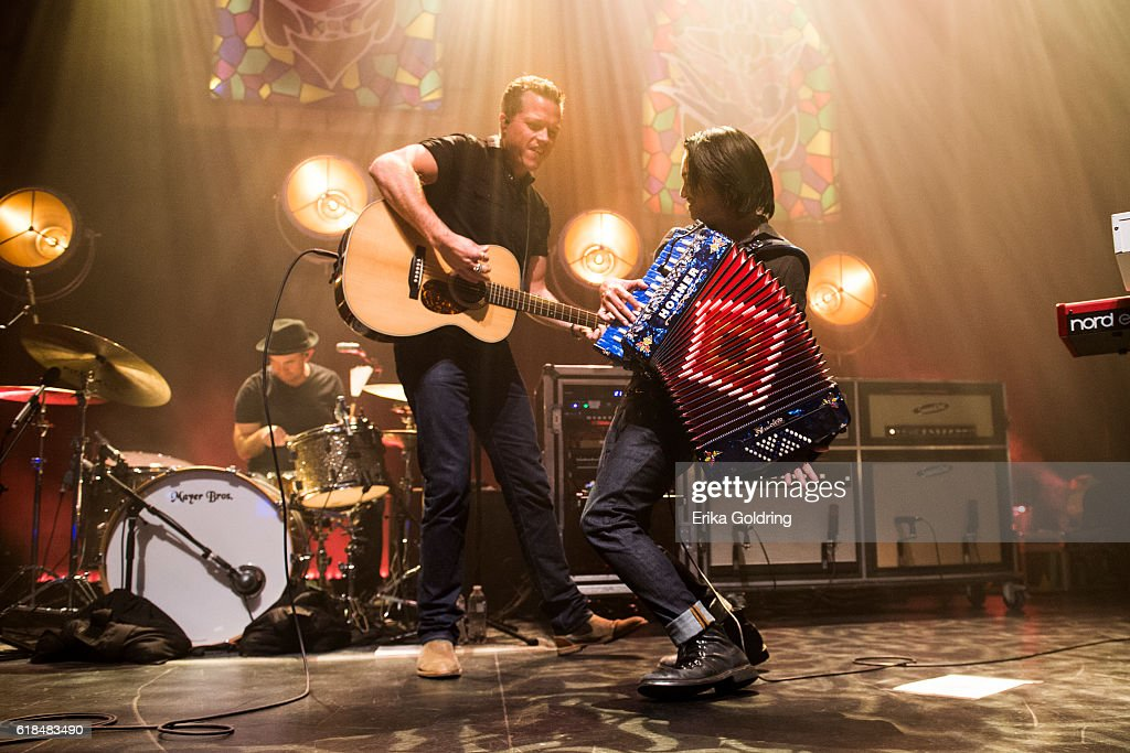 Chad Gamble, Jason Isbell and Derry deBorja perform at The Joy Theater on October 23, 2016 in New Orleans, Louisiana.