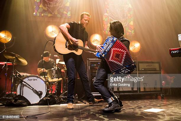 Chad Gamble Jason Isbell and Derry deBorja perform at The Joy Theater on October 23 2016 in New Orleans Louisiana
