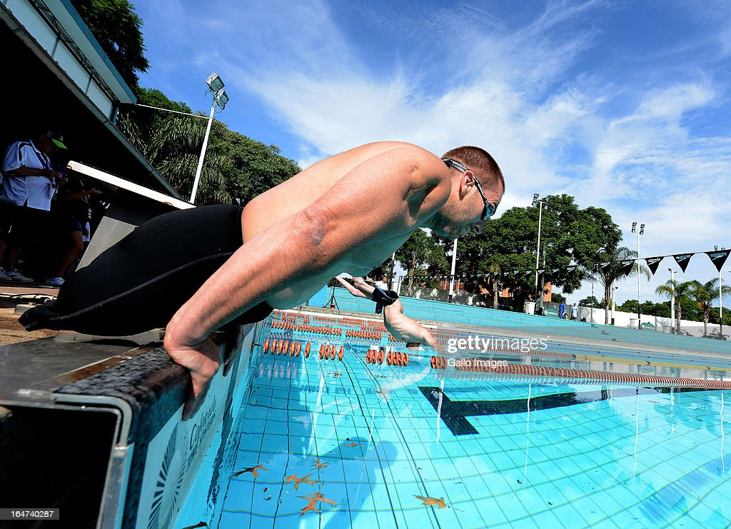 Chad Gifford competes during day 5 of The Nedbank National Championships for the Physically Disabled at Hillcrest Swimming Pool on March 27, 2013 in Pretoria, South Africa.