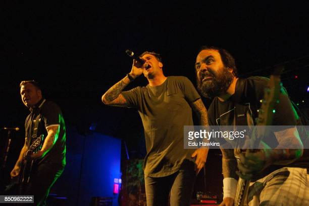 Chad Gilbert Jordan Pundik and Ian Grushka of New Found Glory perform at O2 Academy Oxford on September 21 2017 in Oxford England