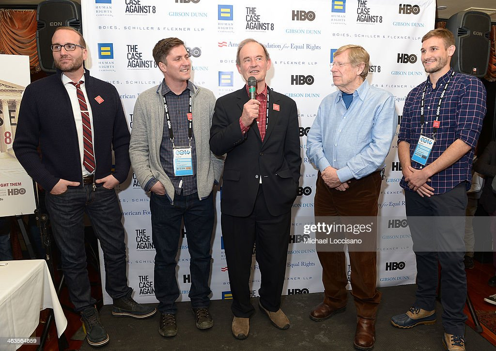 Chad Griffin, Ben Cotner, David Boise, Ted Olson, and Ryan White attend the HBO & HRC Wedding Reception For The Case Against 8 on January 18, 2014 in Park City, Utah.