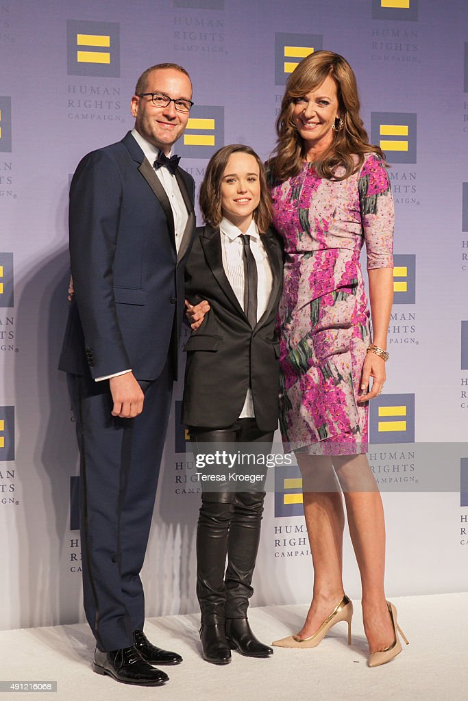 Chad Griffin, Ellen Page, and Allison Janney attend the 19th Annual HRC National Dinner at Walter E. Washington Convention Center on October 3, 2015 in Washington, DC.
