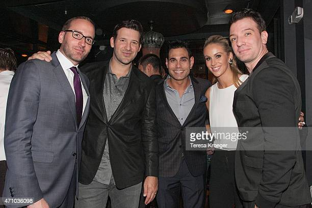 Chad Griffin Tony Romo Eric Podwall Candice Crawford and JC Chasez attend The Evening Before a preWhite House Correspondents' Dinner party hosted by...