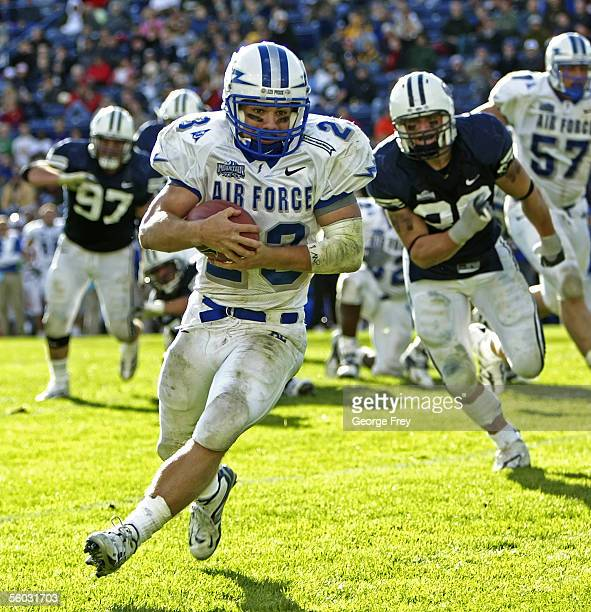 Chad Hall of Air Force runs in for a late touchdown against the Brigham Young University Cougars during the fourth quarter October 29 2005 in Provo...