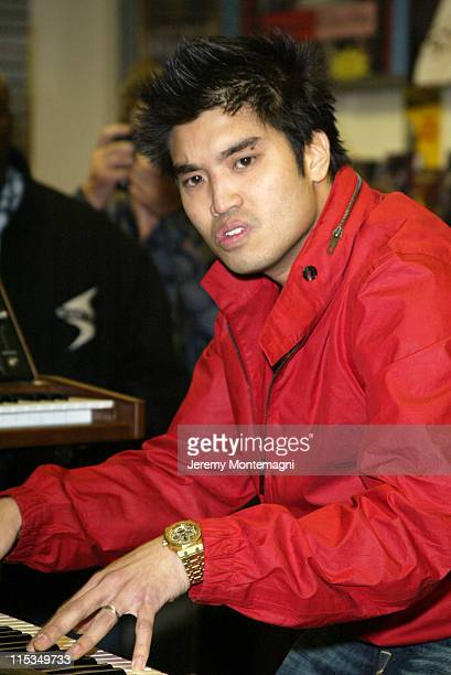 Chad Hugo of N*E*R*D during Live in Store Performance by N*E*R*D March 25 2004 at Tower Sunset in Hollywood California United States