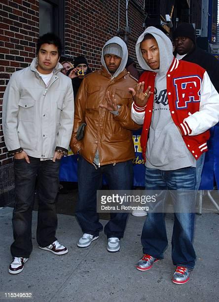 Chad Hugo Shae Haley and Pharrell Williams of N*E*R*D