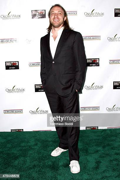 Chad Hurley attends the USIreland alliance preAcademy Awards event held at Bad Robot on February 27 2014 in Santa Monica California