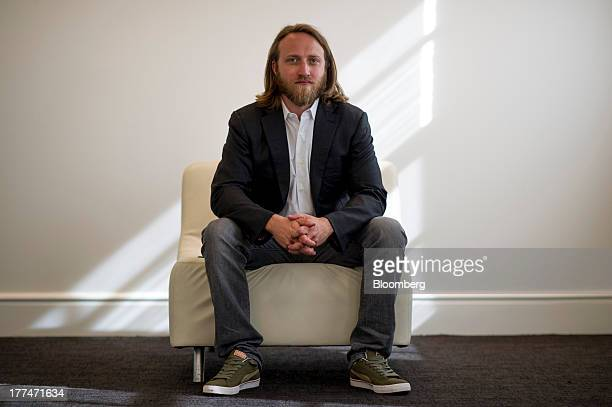 Chad Hurley cofounder of YouTube who also cofounded AVOS Systems Inc sits for a photograph following a Bloomberg West Television interview US on...