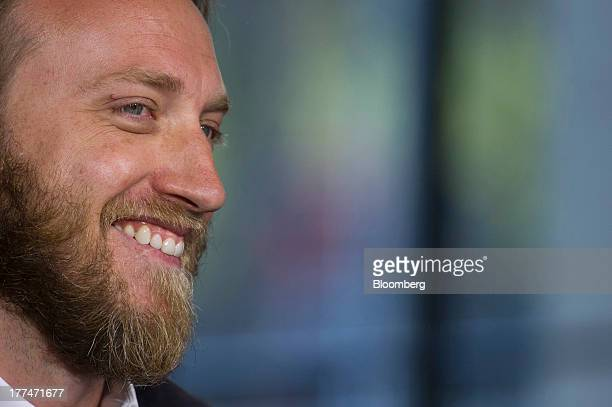 Chad Hurley cofounder of YouTube who also cofounded AVOS Systems Inc smiles during a Bloomberg West Television interview US on Thursday Aug 22 2013...