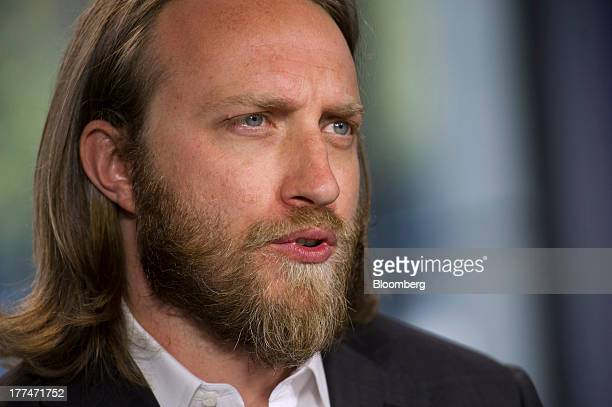 Chad Hurley cofounder of YouTube who also cofounded AVOS Systems Inc speaks during a Bloomberg West Television interview US on Thursday Aug 22 2013...
