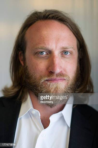 Chad Hurley cofounder of YouTube who also cofounded AVOS Systems Inc stands for a photograph following a Bloomberg West Television interview US on...