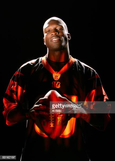 Chad Johnson of the Cincinnati Bengals during a portrait shoot on June 14 2005 in Washington DC